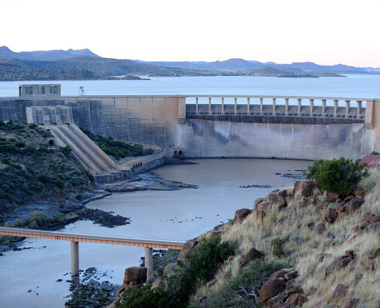 Gariep Dam South Africa  City pictures : The Gariep Dam, South Africa. Dams are critical sources of energy and ...