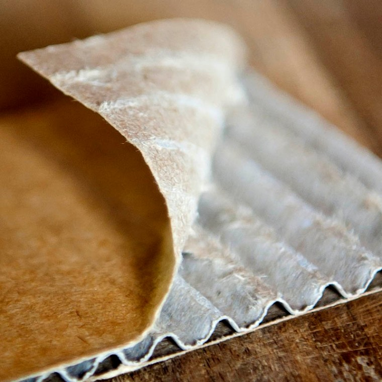 Corrugated cardboard - simple and clever, like all the best inventions.(© All Rights Reserved)