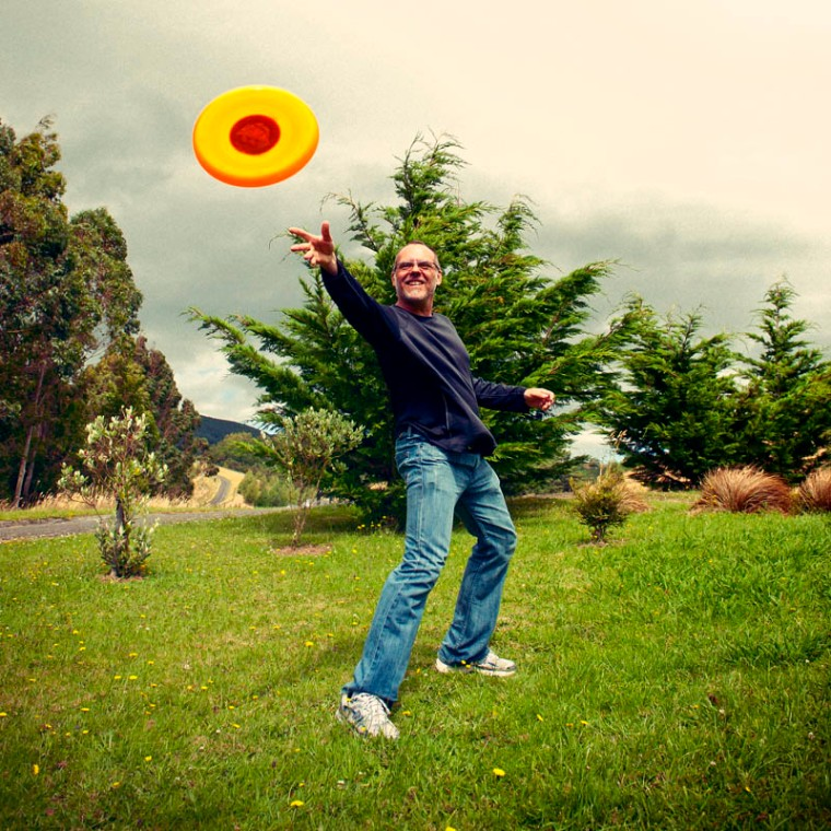 The flying disk of 'frisbee' is a truly age-defying toy, and can offer hours of fun to players of all ages.(© All Rights Reserved)