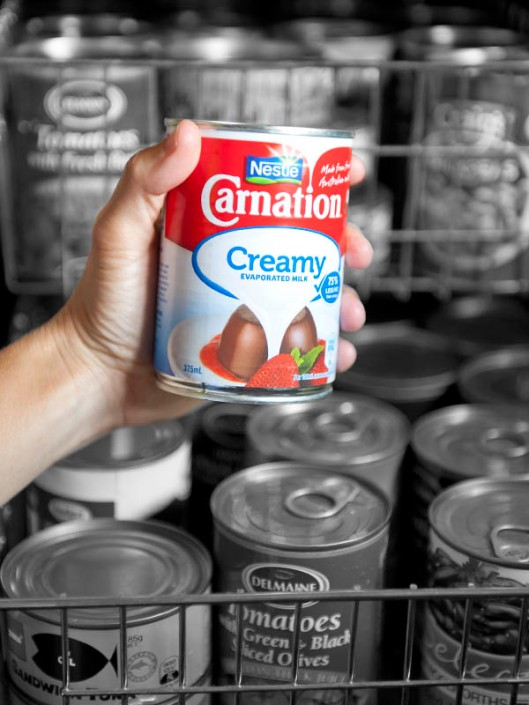 Evaporated milk - still a trusty old stalwart in many a pantry. (© All Rights Reserved)