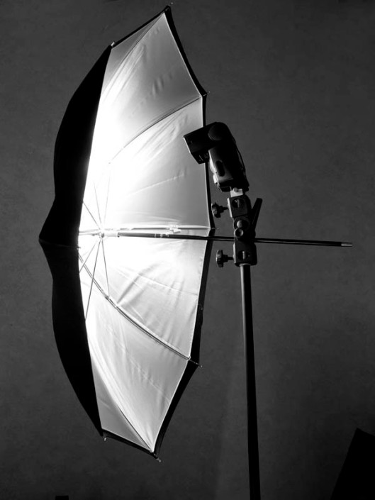 The brolly - a useful lighting accessory, used with a speedlight. (© All Rights Reserved)