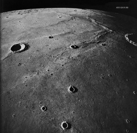 "View of the moon, from ""Apollo Over the Moon: A View from Orbit"" (1978 © F Doyle)"
