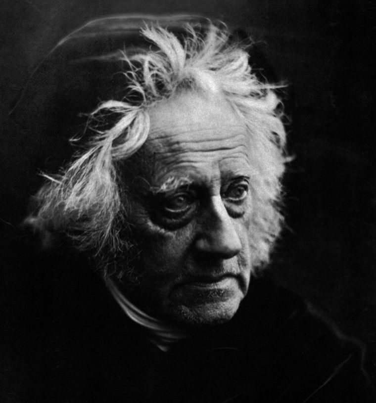 Portrait of the English mathematician, astronomer, chemist, and experimental photographer/inventor Sir John Herschel, by Julia Margaret Cameron, 1867. This portrait illustrates Cameron's trademark tightly cropped, soft focus style, and her uncanny ability to bring out the character of her subjects.  [Public domain - copyright expired]