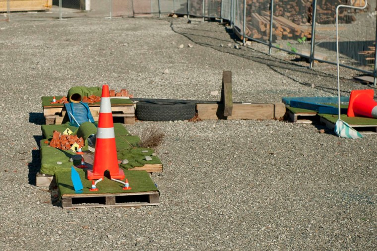 One of the holes of the earthquake rubble mini golf course, spread out throughout the devastated Christchurch inner city. (© All Rights Reserved)
